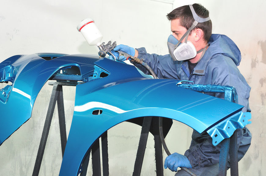 Rv car paint shop auto paint shop i car certified for Car paint shop
